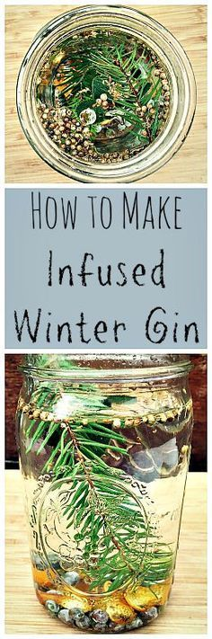 Infused Winter Gin - the perfect herbal infusion for a tasty drink to imbibe in! Make your own botanical gin. : growforagecookferment