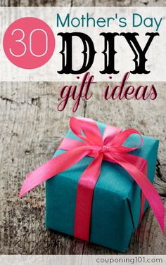 30 Mother's Day DIY Gift Ideas | Handmade gifts are so thoughtful and meaningful. This list has some simple and elegant gifts that anyone would love - jewelry, sewing projects, body scrubs,  and more!