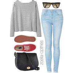 A fashion look from June 2013 featuring Wood Wood tops, Topshop jeans and Vans sneakers. Browse and shop related looks. Casual Outfits, Cute Outfits, Fashion Outfits, Womens Fashion, Fashion Trends, Autumn Winter Fashion, Spring Summer Fashion, Spring Outfits, Zoella Outfits