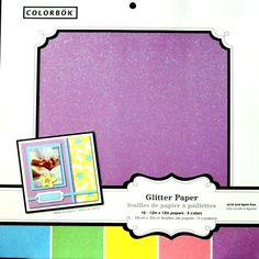 Colorbok 12 x 12 Pastels Glitter Specialty Scrapbook Paper Pad is available at Scrapbookfare.com.
