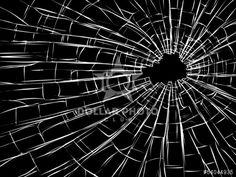 Radial cracks on broken glass.