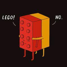**hahaha**  Lego! No!