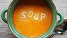 TOMATO SOUP (FOR CANNING) 3 to 4 qt. Night Food, In Season Produce, Healthy Soup Recipes, Tomato Soup, Yummy Eats, Greek Recipes, Nutritious Meals, Health Diet, Tasty Dishes