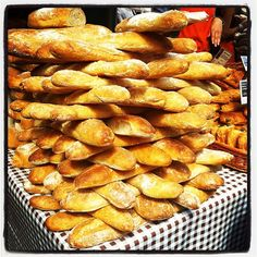 A tower of bread or an extra large game of Jenga?