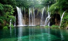 Plitvice Lakes National Park. (Croatia) It is intensely turquoise, thanks to the unique mix of minerals and organisms in runoff from the nearby Dinaric Alps.