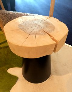 The log that is cut for the top of this table is so beautiful... could be stunning in the right room.   Designed by German company Jan Kurtz.  With @modenus  at #‎blogtourambiente‬  #‎ambiente15‬ ‪ #design #interiordesign #decorating
