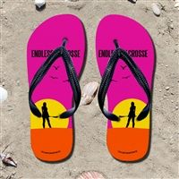 Endless Summer Girls Flip Flops - Kick back after a lacrosse game with these great flip flops! Fun and functional flip flops for all lacrosse players and fans.
