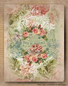 Vintage Cards, Vintage Paper, Vintage Decor, Vintage Floral, Decoupage Art, Decoupage Vintage, Decoupage Ideas, Pastel Floral, Rose Design