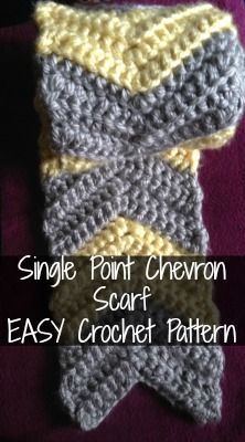 Recently, a reader emailed me asking if I had any other chevron scarf patterns -- she liked the one I posted a few months ago, and wanted to try another variation. As it turns out, I do have anothe...