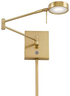 GEORGE KOVACS P4308-248 - GEORGE'S READING ROOM 1 LIGHT LED SWING ARM WALL LAMP, HONEY GOLD
