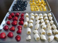 How to Freeze Fresh Fruit - a helpful tutorial for summer when the best fruit is in season and much cheaper!