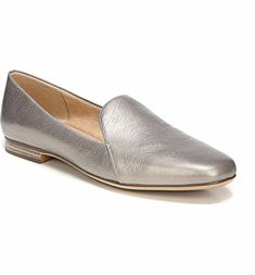 29bc4df66 Emiline Flat Loafer, Main, color, ZINC LEATHER Loafers For Women, Loafer  Flats