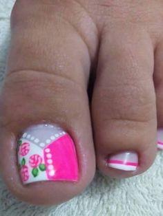Manicure Ideas, Nail Designs, Nail Art, Nails, Beauty, Pretty Toe Nails, Simple Toe Nails, Cute Nails, Toe Nail Art