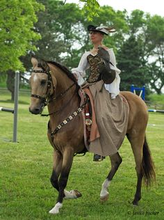 Falconry and horseback