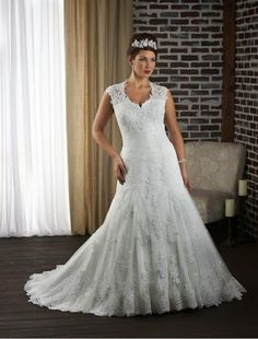 plus size wedding dresses 2014 | Tulle and Lace Strapless Plus Size Wedding Dress with Beaded Belt