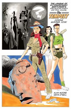 League of Extraordinary Gentlemen Finale Coming in 2018  Top Shelf Productions announced at SDCC today that writer Alan Moore and artist Kevin O'Neill are reuniting for a sixth League of Extraordinary Gentlemen mini-series. Dubbed League of Extraordinary Gentlemen: The Tempest this six-issue series will wrap up their sprawling literary crossover once and for all.   League of Extraordinary Gentlemen: The Tempest teaser art by Kevin O'Neill. (Top Shelf)  Continue reading…