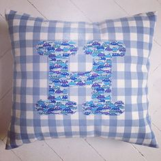For a little boy's room using Liberty print fabric for the initial! https://www.facebook.com/willaandbobbin?ref=hl