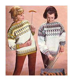 DK Fiord Fair Isle Jumpers SIZES: 32 to 38 ins by EMU pattern found on ETSY in the shop called YarnPassionDesigns for only $1.45