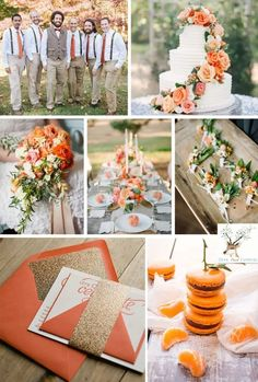 Orange Wedding Colors, White Wedding Flowers, Fall Wedding Colors, Wedding Color Schemes, Mauve Wedding, Orange Pantone, Beach Centerpieces, Centerpiece Ideas, Wedding Venue Inspiration