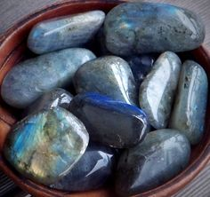 Also known as Spectrolite, LABRADORITE is a feldspar mineral exhibiting a high degree of labradorescence, an optical display of colors resulting from light refracting within lamellar intergrowths. The optical phenomenon of LABRADORITE is often also found in Moonstones.    An increase in synchronicites and coincidences may occur when working with LABRADORITE.    LABRADORITE may be used for spiritual awakening, protected astral travel, prophetic dreaming and shamanic journeying.