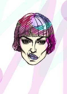 Digital & pencil illustration by Jess Tobin AKA Novice Pencil Illustration, Art Work, Street Art, Digital, Fictional Characters, Artwork, Work Of Art, Fantasy Characters