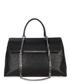 JIL SANDER Lady J leather shoulder bag Fur Skirt ab72468bf0e8d