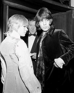 I saw this picture of Marianne Faithfull when I was little... and have wanted her jacket ever since.