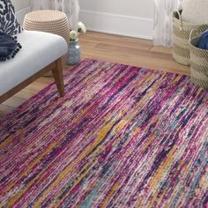 Mistana Hillsby Oriental Multi-Color Area Rug Rug Size: Rectangle x Turkish Pattern, Purple Area Rugs, Blue Rug, Light Blue Area Rug, Rugs, Dark Blue Rug, Statement Rug, Faux Cowhide, Rugs And Mats
