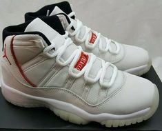 huge discount c322a b29ab Nike Air Jordan Retro 11 XI GS Platinum Tint Red Black 378038-016 Size 4Y   Nike  BasketballShoes