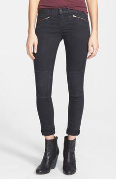 rag & bone/JEAN 'Ridley' Moto Skinny Jeans (Wax Black) | Nordstrom