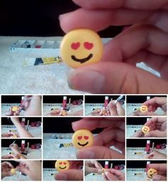 How to Make Hot Glue Emoji Charm