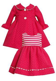 @Courtney Elliott.....looks like something you would buy your little girl! Bonnie Jean® Jacquard Circle Coat & Dress Set