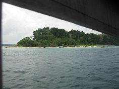 View of Jolly Buoy beach - Andamaan Islands from the boat.