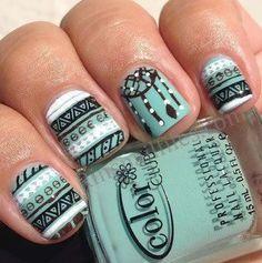 nice Tribal dream catcher nails