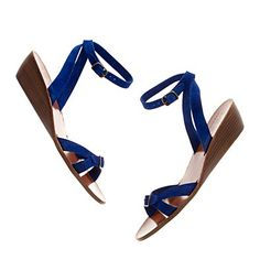 """blue! and perfect heel height (cause I really don't need to be 6' 5"""" all summer long)"""