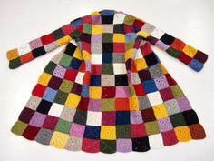 coat of many colors Crochet Coat, Crochet Jacket, Crochet Cardigan, Crochet Shawl, Crochet Clothes, Crochet Squares, Crochet Granny, Hippie Crochet, Bunt