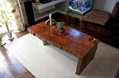 I love the figured grain of this walnut coffee table