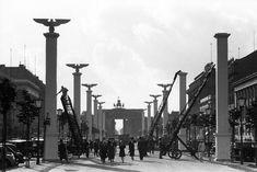 Berlin 1937 Festschmuck imn Berlin.Staatsbesuch Mussolinis in Berlin (25.September bis 29.9.1937)