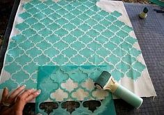 Stencil para decorar | Aprender manualidades es facilisimo.com