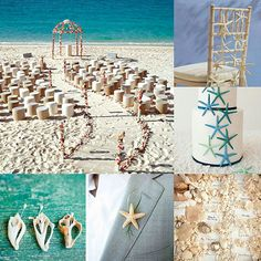 Our Favorite Beach Wedding Ideas: From The Sunny Ceremony To A Starfish Wedding Cake.
