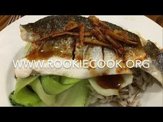 Steamed Korean Sea Bass with Garlic, Ginger, Pak Choi & Rice - Rookie Cook