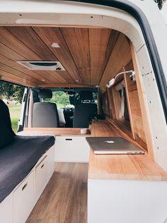 Mini Camper, Bus Camper, Equipement Camping Car, Astuces Camping-car, Caddy Van, Minivan Camper Conversion, Build A Camper Van, Van Conversion Interior, Kombi Home