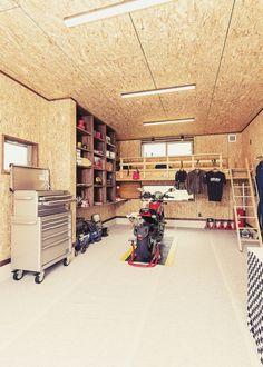 車好きバイク好きスタッフがお客様と一緒に考えたガレージハウス | 施工例 | ガレージハウス | U-TASTE 梅村工務店