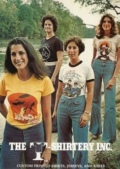 || Desert Lily Vintage || Ethical shopping. Bold. Empowered. 70s. 1970s advertisement - this picture looked like the way everyone at my high school dressed