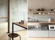 Beautiful Kitchen Decoration and Minimalist Vanities in Small Modern Loft Apartment Design Ideas