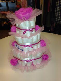 Torta pannolini rosa