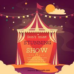 цирк-шапито вектор постер Бесплатные векторы