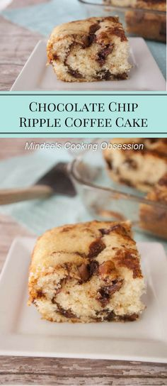 Chocolate chip ripple coffee cake is a moist breakfast cake with just ...