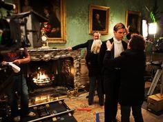On the set. Downton Abbey