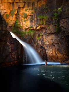 Swimming deep in an outback gorge - North Western Australia